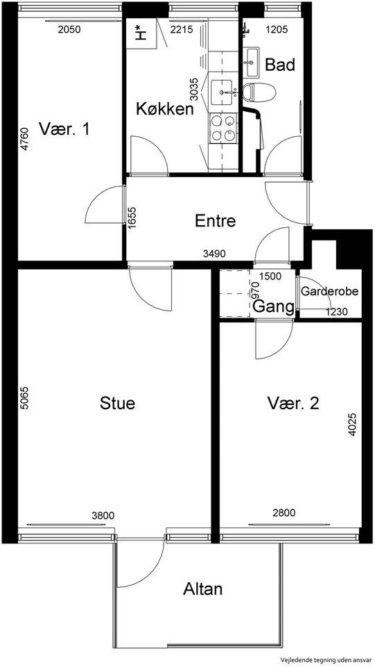 lejlighed byttes, 2970 75 m2