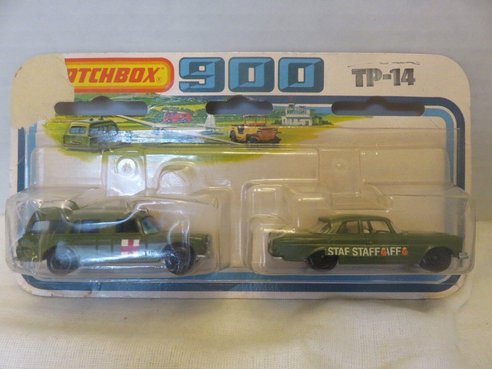 Matchlåda SuperFast 900 Militär Mercedes 300SE Binz Ambulance TP -14 Die -Cast A