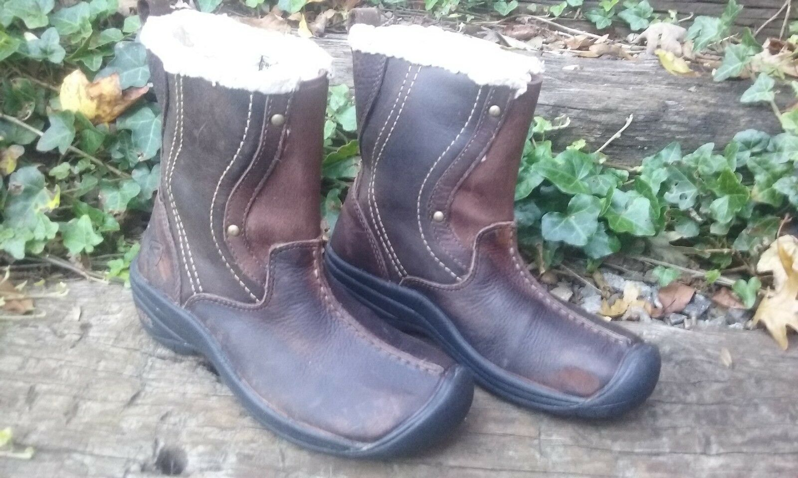 Womens KEEN Brown Leather Insulated Winter Boots NEW Size 6 / 36.5