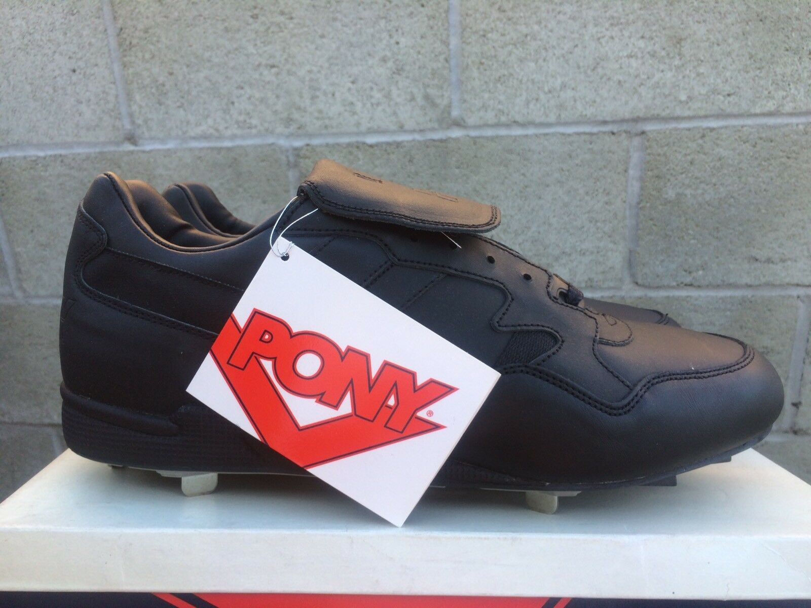 VINTAGE PONY PRO SPIKE LO CLEATS Sz. 14 DEADSTOCK COLLECTIBLE RARE