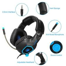MIC for Laptop XBOX One PS4 W3X9 SADES Gaming Headset Surround Stereo Headphone