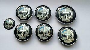 7-set-BMW-Crane-Insigne-Capot-Coffre-Volant-Enjoliveur-roue-NEUF