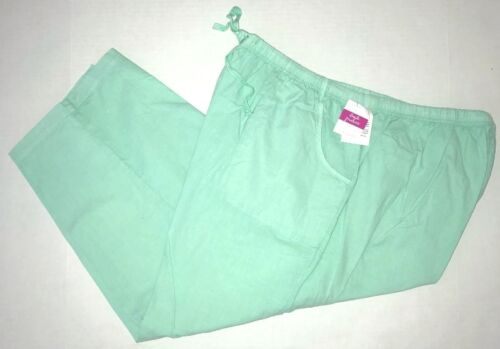 FRESH PRODUCE 2X Palm GREEN Topstitch Sheeting Cotton Capris NWT New 2X