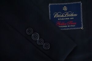 Brooks-Brothers-Golden-Fleece-Current-Solid-Black-Wool-Sport-Coat-Jacket-42S