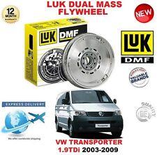 Para VW Transporter V 1.9 TDI 2003-2009 Original LUK DMF Doble Masa Rígida Volante