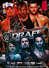 WWF Raw Smackdown Draft 2016 Retro Wrestling Poster Vintage 8x11 Roman Reigns