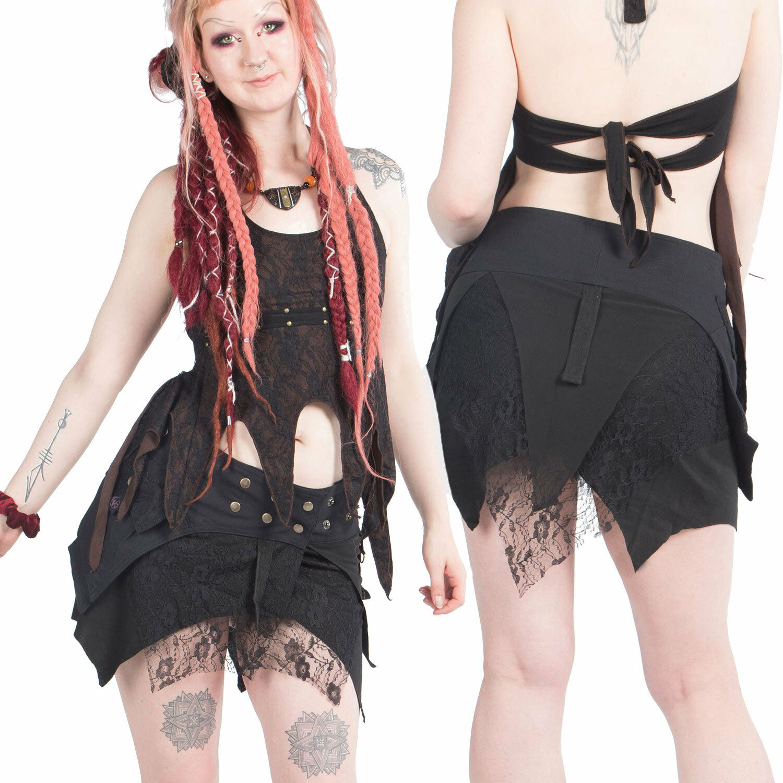 Minigonna Gotico, Gotico, Gotico, Tribale Psy Trance Abbigliamento, più taglie gonna in pizzo frastagliati Pixie abb9b7