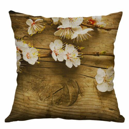 "Flower Cushion Case Linen Sofa Cover Pillow Cotton Throw Fashion 18/"" Home Decor"