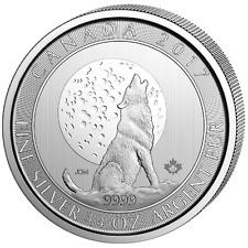 3/4 oz Kanada Heulender Wolf 2017 Wolf und Mond 999 Silber Silbermünze