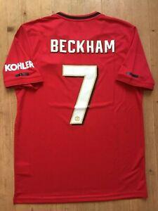 finest selection 53c06 fecfd Details about David Beckham Manchester United 2019/2020 Treble Reunion 1999  Shirt Medium