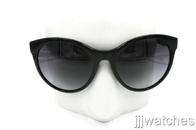 6fa2dc57a160 New Burberry Round Black Havana Sunglasses Gray Gradient BE4236 30018G 56  $240