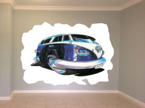 Huge Koolart Cartoon Volkswagen Camper Split Screen Wall Sticker Poster 839