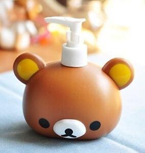 FD4394-Rilakkuma-San-X-Relax-Bear-Head-Bath-Dispenser-Shampoo-Bottle-Gift