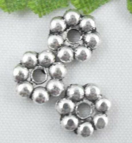 wholesale 120//410Pcs Silver Plated Spacer Beads 6x2mm (Lead-Free)