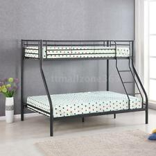 iKayaa Twin over Full Bunk Metal Bed Frame Kid Adult Children Bedroom Dorm W4Z4