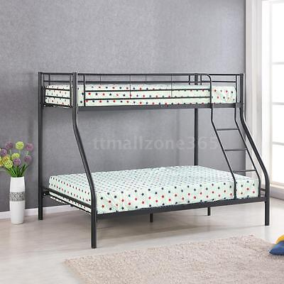 iKayaa Twin over Full Bunk Metal Bed Frame Bedroom Dorm Heavy-Duty W4Z4