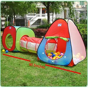Kids Play Tents And Tunnels Girls Boys Outdoor Indoor Playset Portable Toddler