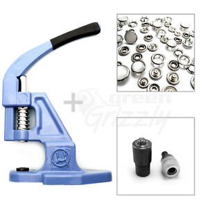 Pack-of-hand-press-fixing-tool-die-Metal-Press-Studs-Poppers-and-supplies