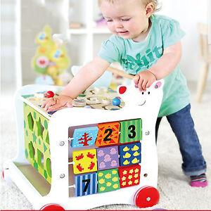 Baby Kleinkindspielzeug Eisbär Lauflernwagen Motorik Holz Schiebewagen Kinder Motorikspielwagen Baby B34 Angenehm Im Nachgeschmack
