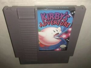 Nintendo-NES-Game-The-Original-KIRBY-039-S-ADVENTURE-Cleaned-amp-Tested-Super-Fun-SAVES