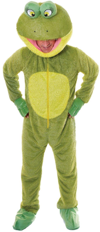 Herren Damen Frosch Maskottchen Tier Tier Tier Fest Stag Nacht Kostüm Kleid Outfit b1df26