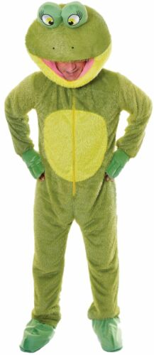 Mens Ladies Frog Mascot Animal Festival Stag Do Night Fancy Dress Costume Outfit