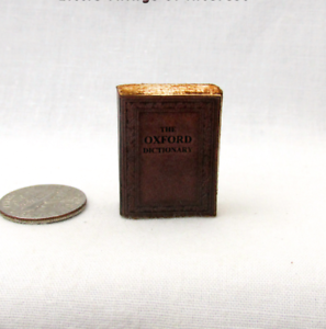 Image Is Loading OLD OXFORD DICTIONARY Dollhouse Miniature Book 1 12