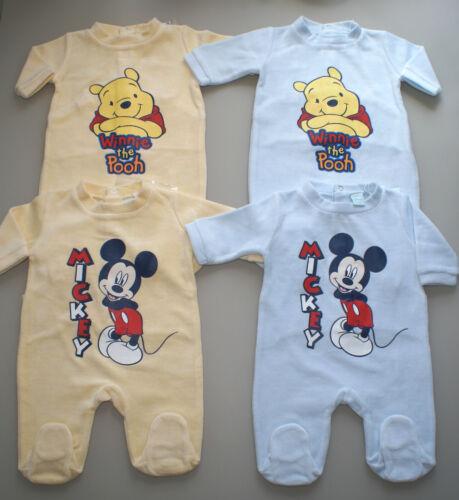 Neu Disney Mickey o 62 68 74 80 86 92 Winnie Pooh Overall Pyjama Strampler Gr