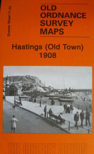 OLD ORDNANCE SURVEY MAPS HASTINGS SUSSEX 1908 Godfrey Edition New Old Town
