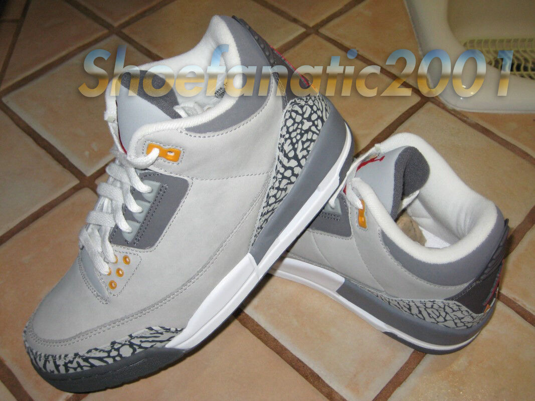 Nike air jordan retrò 3 iii e cemento grigio rosso argento sport - ali