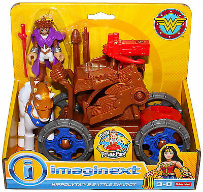 Nouveau Fisher Price Imaginext DC Super Friends Wonder Woman Queen Hippolyte Chariot