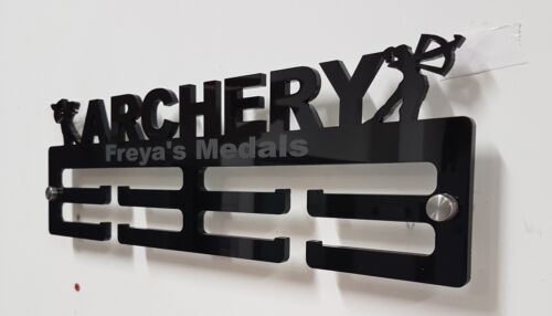 Archery Medal Hanger Medal Holder Display Female Male Personalised 5mm Acrylic