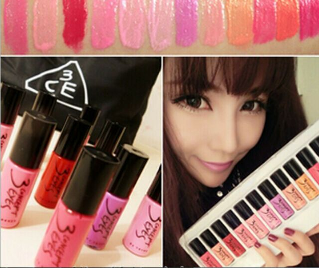 One Set 12 Color 3CE 3 CONCEPT EYES Lip Gloss Liquid Rouge