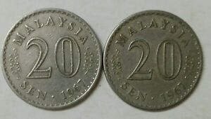 Parliament-Series-20-sen-coin-1967-2-pcs