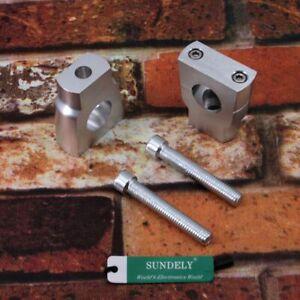 UK-A-Set-GM-Motorcycle-7-8INCH22mm-Bar-Handlebar-Riser-Clamp-Trials-Taper-Silver