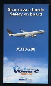 EUROFLY Italian Airline A 320 SAFETY CARD air brochure alitalia sc785 aa