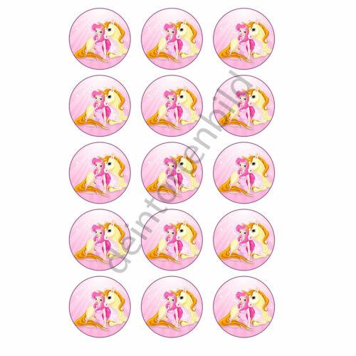 Prinzessin Einhorn Muffinaufleger Foto Muffin Cupcakes Fototorte cupcake Motiv