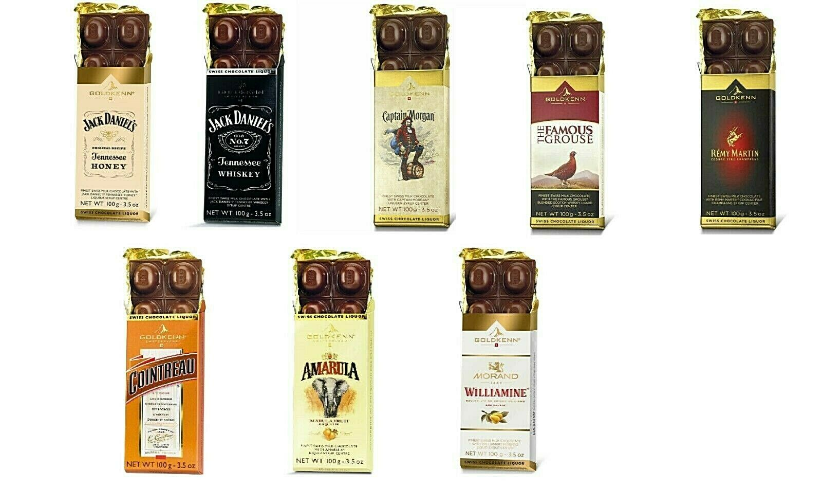 Goldkenn Swiss Liqueur Chocolate New You Choose Of 8 Varieties Fresh Production