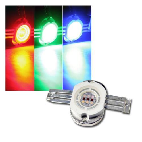 Highpower LED Chip 10W RGB ROUND 350mA je rot grün blau Hochleistungs 10 Watt
