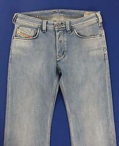 Diesel-yarik-w30-L34-tg-44-jeans-azzurro-uomo-usato-gamba-dritta-slim-blu-T1091