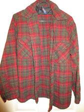 Vintage 1962 Pendleton Virgin Wool Plaid Shirt Made In USA Men's Large