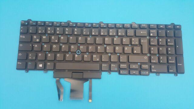 Keyboard Dell Latitude E5570 E5580 Precision 15 17 7000 02R2P6 German Backlit