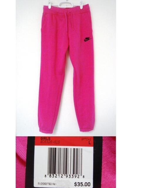 2a1510f3ec $35 Nike Fleece Sweatpants girl L 806326-615 Sportswear Pants Hot Pink Youth