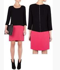 DKNY Color Block Black Pink Dress L