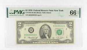 PMG Graded 66 EPQ $2 1976 FR1935-B Bicentennial Note Consec Run (see lots) *263