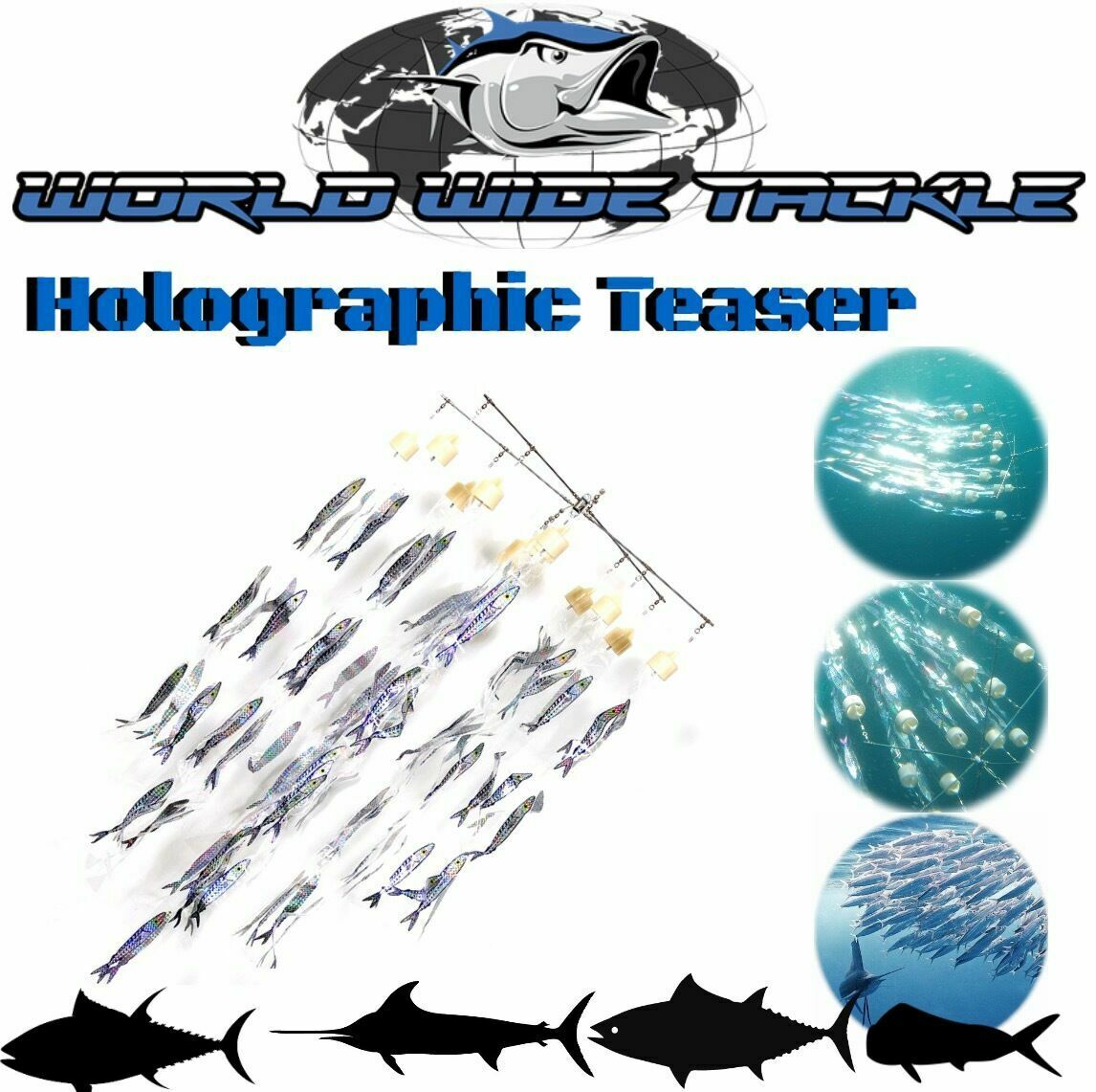 WWT Holográfico Offshore Peces Juego Rompecabezas Bait Ball