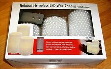 HOBNAIL FLAMELESS LED WAX CANDLES WITH REMOTE