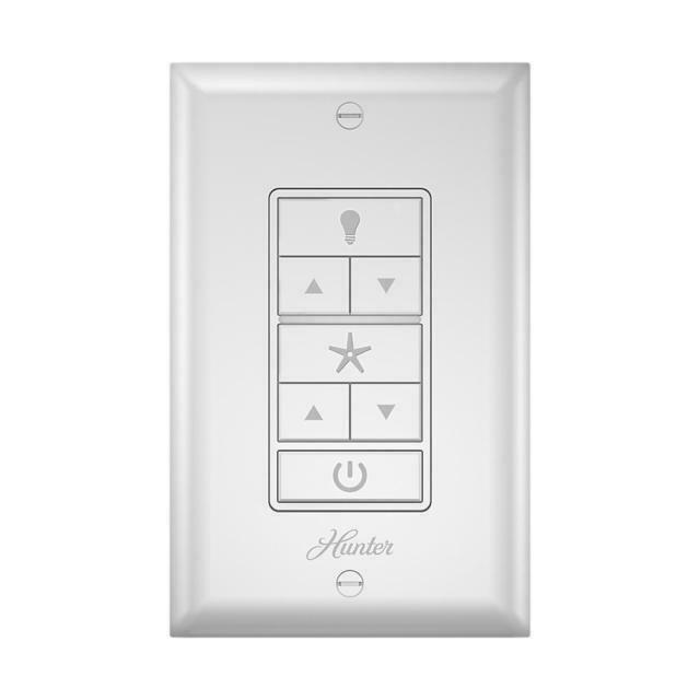 Hunter Indoor White Universal Wall Mount Ceiling Fan Control