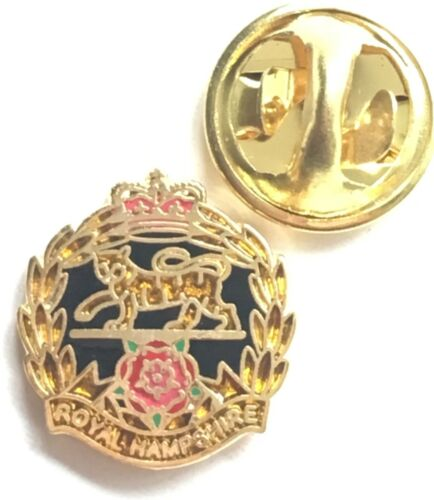 MOD Military Approved Army Enamel Badge Royal Hampshire Regiment British Army