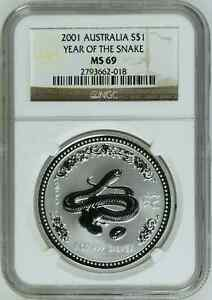 2001-1-oz-NGC-MS69-Silver-Australian-Year-of-the-Snake-Coin-Bullion-Australia